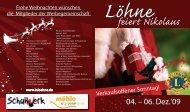 06. – 07. Dez. '08 04. – 06. Dez. '09 - Lions-Club Löhne