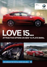 ATTRACTIVE OFFERS ON NEW '15-PLATE BMWs.