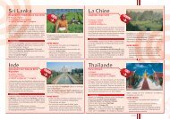 La Chine Sri Lanka Thaïlande Inde - Voyel Voyages