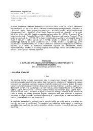 Pravilnik o notranji organizaciji in sistemizaciji delovnih mest