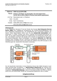 Referenz: CSB Concpet (IFS:CSB) Thema: Analyse und Design von ...