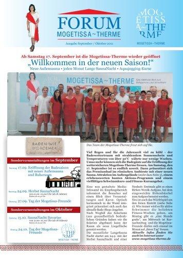 forum-september-oktober 2011 - Mogetissa Therme