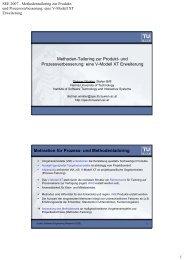 Methoden-Tailoring zur Produkt - Quality Software Engineering ...