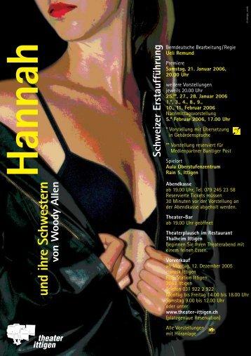 Flyer zum Herunterladen (PDF 164 KB) - Theater Ittigen