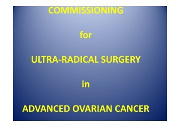 NSSG Leads Des Barton Ultraradical Surgery Ovarian Cancer ...