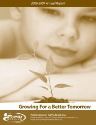 Growing For a Better Tomorrow - Family Service of the Piedmont