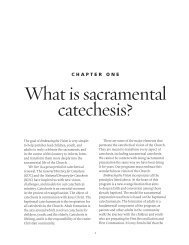What is sacramental catechesis? - Pastoral Planning