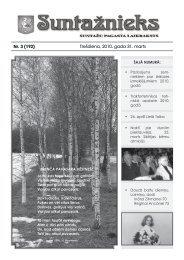 Suntažu pagasta laikraksts Suntažnieks, marts - Ogres novads