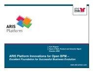 ARIS Platform Innovations for Open BPM – - Software AG