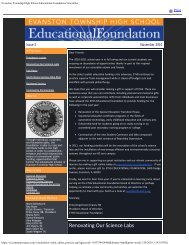 Evanston Township High School Educational Foundation Newsletter