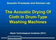 The Acoustic Drying Of Cloth In Drum-Type Washing Machines