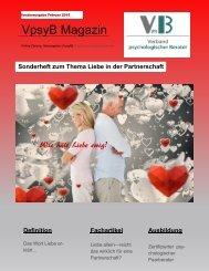 VpsyB Magazin Sonderausgabe Thema Liebe in der Partnerschaft
