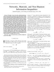 Networks, Matroids, and Non-Shannon Information Inequalities
