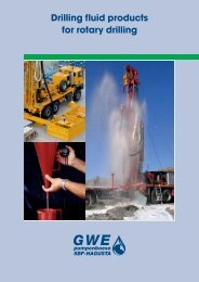 Drilling fluid products for rotary drilling tion - GWE German Water ...