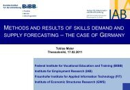 Methods and results of skills demand and supply forecasting