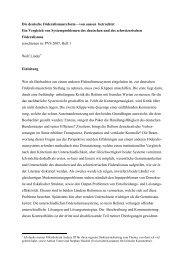 Die deutsche Föderalismusreform—von aussen betrachtet Ein ...