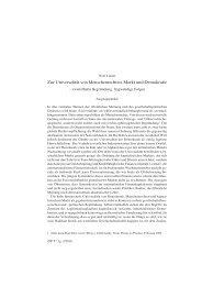 Zur Universalität von Menschenrechten, Markt und ... - Wolf Linder