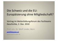 Europäisierung ohne Mitgliedschaft? - Wolf Linder