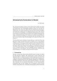 Schweizerische Konkordanz im Wandel (pdf, 286KB) - Institut für ...
