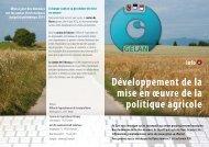 Développement de la mise en œuvre de la politique agricole