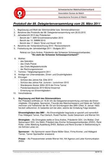 89. Delegiertenversammlung vom 25. März 2011 (pdf)