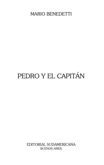 Benedetti, Mario - Pedro y el capitan