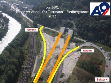 5601 Trasse A9 Wanne Ost Turtmann - Riedbergtunnel