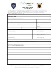 Public Safety Academy Application - City of Meridian