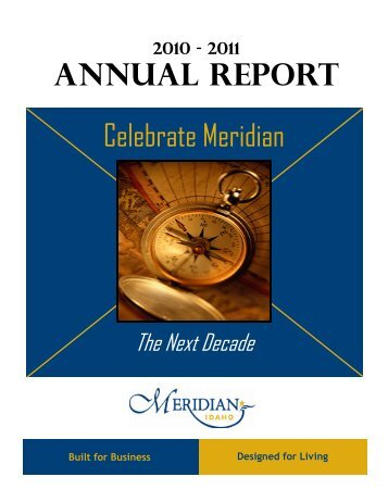 2010-11 Annual Report - City of Meridian