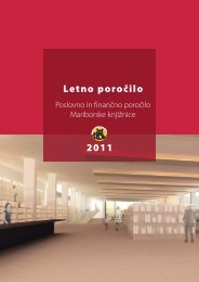 Letno poročilo 2011 - Mariborska knjižnica