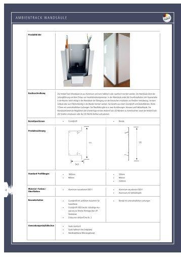 Datenblatt Wandsäule - In-Akustik