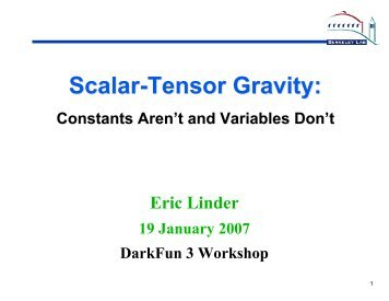Scalar-Tensor Gravity: - Supernova Cosmology Project