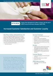 Increased Customer Satisfaction and Customer ... - IDS Scheer AG