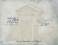 Annual Report - Jewish Foundation of Memphis