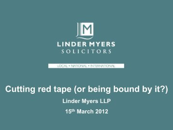 BOBI Cutting Red Tape in the Tourism Sector - Linder Myers Solicitors