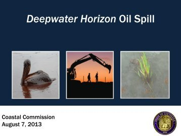 Deepwater Horizon - Coastal Protection and Restoration Authority