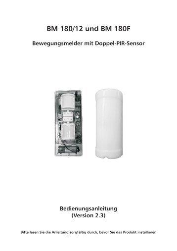 BM 180/12 und BM 180F Bewegungsmelder mit Doppel ... - Indexa