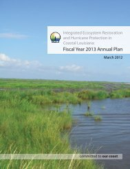 Fiscal Year 2013 Annual Plan - Coastal Protection and Restoration ...