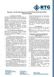 Reparatur- und Servicebedingungen - RTG Rammtechnik GmbH