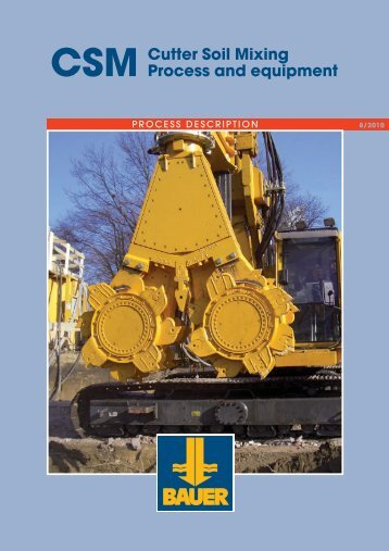Cutter Soil Mixing Process and equipment - RTG Rammtechnik GmbH