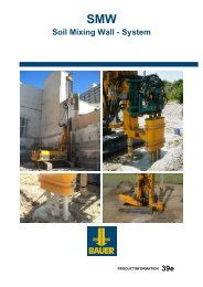 Soil Mixing Wall - System - BAUER-Pileco