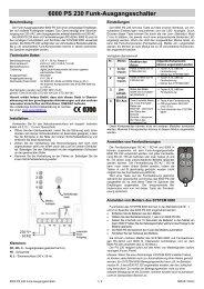 6000 PS 230 Funk-Ausgangsschalter - Indexa
