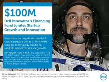 Dell Innovator's Financing Fund brochure - Angel Capital Association
