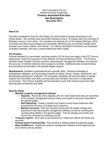 Job Description Research Assistant Position Hours: Part-Time