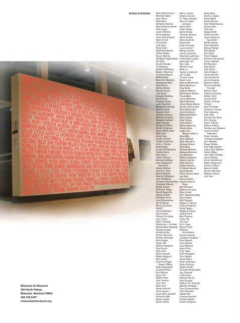 New Mam Annual Report Missoula Art Museum