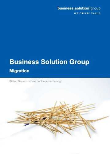Migration - Business Solution Group