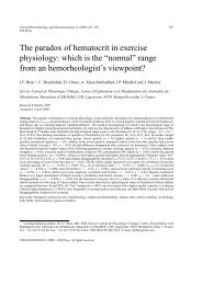 The paradox of hematocrit in exercise physiology - I hope you will ...