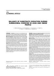 balance of substrate oxidation during submaximal exercise in ... - Free