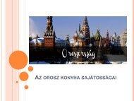 Huszárovics Dalma - Az orosz konyha sajátosságai (PDF)