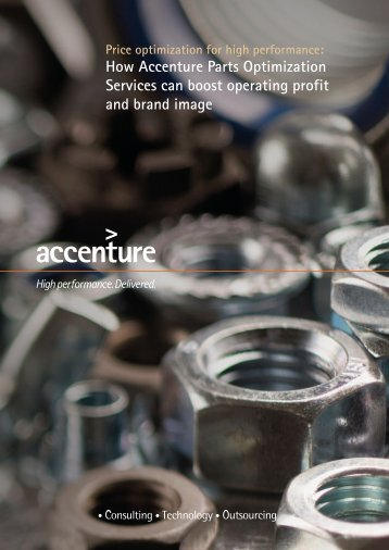 How Accenture Parts Optimization Services can boost operating ...